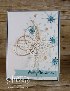 Star of Light stamp set. Video tutorial- learn the tips and tricks for this card and a stepped down version of this card.  www.stampinbythesea.com