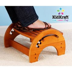 KidKraft - Adjustable Nursing Stool, Honey