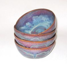 Ceramic Soup, Cereal or Salad Bowl Maroon, Blue and Purple by Juliesceramics on Etsy https://www.etsy.com/listing/113649892/ceramic-soup-cereal-or-salad-bowl-maroon