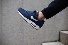 Nike Air Max 1-Midnight Navy-Light Bone-White-1