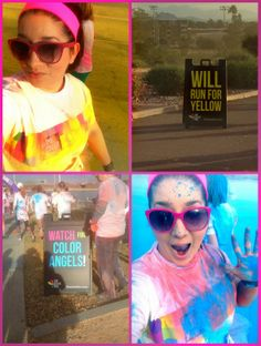 Sparkle Me Pink: The Color Run 2014 - Tempe, AZ | My First 5K ! # ...