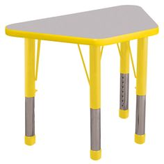 ECR4KIDS 18 x 30 in. Gray Top Learning Adjustable Activity Table - ELR-14118-GBL-SB