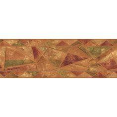"allen   roth�6-7/8"" Geometric Style Prepasted Wallpaper Border"