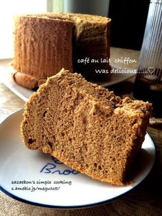 Bread Cake, Dessert Recipes, Desserts, Banana Bread, Chiffon, Cooking Recipes, Sweets, Simple, Food
