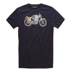 Deus Ex Machina G50 T Shirt - Black | Moto T Shirts | FREE UK delivery - The Cafe Racer