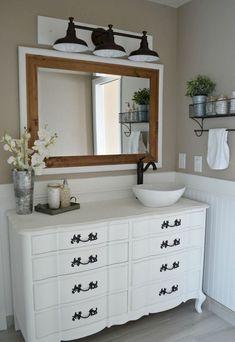 Nice 80 Rustic Farmhouse Master Bathroom Remodel Ideas https://wholiving.com/80-rustic-farmhouse-master-bathroom-remodel-ideas