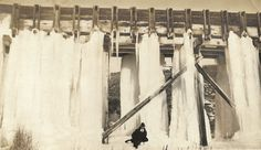 """Vintage Snapshot """"Ice Storm"""" Man Poses Near Frozen Waterfall Long Hard Winter Old Photo Found Vernacular Photography by SunshineVintagePhoto on Etsy https://www.etsy.com/listing/594786695/vintage-snapshot-ice-storm-man-poses"""