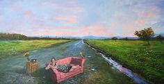 camino a huelquén Painting, Bicycle Kick, Drive Way, Paintings, Art, Painting Art, Painted Canvas