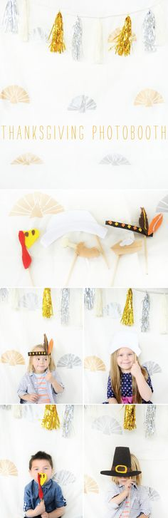 This is such a cute idea! A Thanksgiving Photo Booth for the kids! (or kids at heart!) :-)