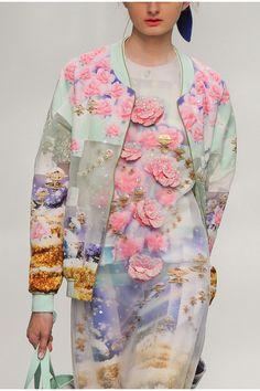 Manish Arora Spring 2015 - Embroidered Flower Jacket and dress