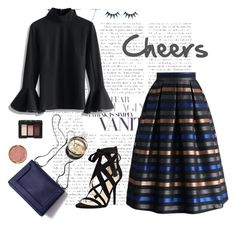 """""""Cheers Beauty"""" by chicwish ❤ liked on Polyvore featuring Chicwish, Nine West, 3.1 Phillip Lim, NARS Cosmetics, Milani, Hermès, women's clothing, women's fashion, women and female"""