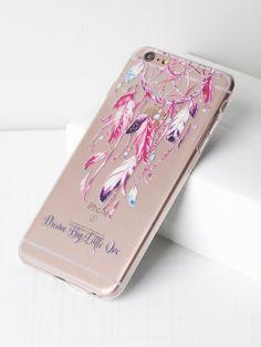 f68591919b Shop Dreamcatcher Print Clear iPhone 6 Plus/6s Plus Case online. SheIn  offers Dreamcatcher