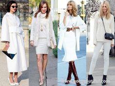 All White Winter Fashion Looks Winter Fashion Looks, Autumn Winter Fashion, Preppy Winter Outfits, Winter Stil, White Outfits, All White, Winter White, Fashion Show, Fashion Trends