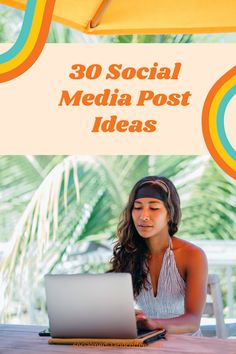 Do you need some social media post ideas for your page? Here are 30 ideas - plug them in and have a full month planned! Social Media marketing | online business | blog | blogging | Facebook marketing | Instagram marketing | Twitter | entrepreneur | small business marketing | marketing ideas | social media tips | #socialmedia #Facebook #Instagram #Twitter #blog #Blogging #smallbusiness #entrepreneur