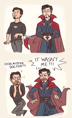 The cloak is getting cheeky || IronStrange || Avengers Infinity War || Cr: CroixMeridies