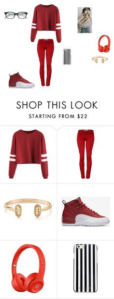 """""""RED"""" by shiyanemcnab on Polyvore featuring Kendra Scott, NIKE, MICHAEL Michael Kors and Kate Spade"""