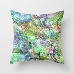 Galaxy Tree Throw Pillow by Lisa Argyropoulos - $20.00