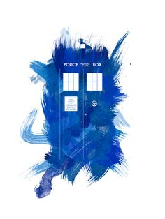 YES!!!  This is what I'm looking for!!!                                         Watercolor TARDIS Art Print