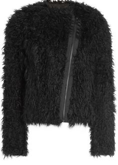 12 Glamorous Faux Fur Coats You Need This Season | StyleCaster | Zadig & Voltaire Faux Jacket, $535; at Stylebop