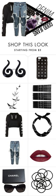 """""""Distressed Jeans contest"""" by this-is-my-life-and-imma-live-it ❤ liked on Polyvore featuring Monki, Topshop, One Teaspoon, Chanel, Nicki Minaj, women's clothing, women, female, woman and misses"""