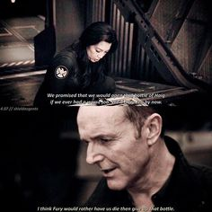 #agentsofshield Ok but tell me how you can look at these two and not ship them? — [#aos #marvel #mingnawen #melindamay #clarkgregg #philcoulson #philinda #shieldacgentscenes]