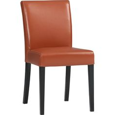 Lowe Persimmon Leather Side Chair $199