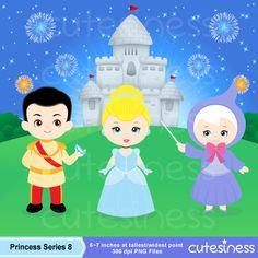 Cinderella Digital Clipart Princess Digital Clipart by Cutesiness