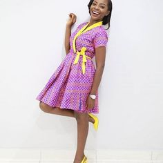 e6519333952 Stunningly Stylish  Ankara Short Gown Dress For The Pretty Ladies Ankara  Short Gown Dresses