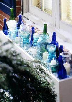 vintage blue bottles #DefineMyStyle