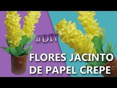 TUTORIAL - Lavender flower / paper flower with crepe paper - craft tutorial - Simple and Easy - YouTube