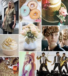Mood Board Monday: Gold Glitter