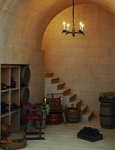 Dollhouse Miniatures : Château Margaux - Wine cellar  Share, Repin, Comment - Thanks!