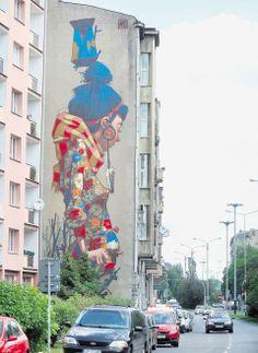 Sainer, mural przy ul. Uniwersyteckiej 12 w Łodzi. Fot. Urbansform