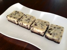 Raw, No Bake Chocolate Chip Cookie Dough Brownie - grain free, dairy free, egg free and Paleo