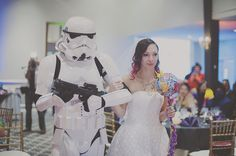 Stormtrooper walk down aisle