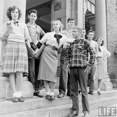 Teenage girls wearing new animal pattern sweaters,1945. Description from pinterest.com. I searched for this on bing.com/images
