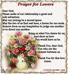 A Prayer for Lovers...