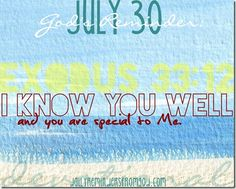 God's Reminder, July 30: God knows you well