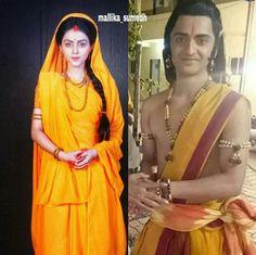 Sita Ram ❤ Siya Ke Ram, Sita Ram, Cute Krishna, Radha Rani, Radhe Krishna, My King, Sari, Graphics, Fashion