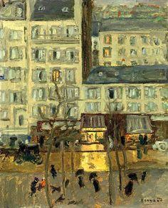 PIERRE BONNARD (1867-1947) PAYSAGE PARISIEN (BOULEVARD DE CLICHY)