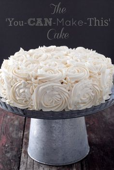 The Best and Easiest Rosette frosting method. Anyone can frost a cake to look like this in 10 minutes with no experience. (Really!)