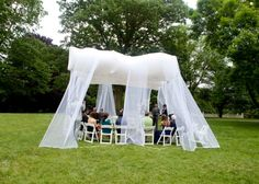 Helium-Filled Wedding Pavilion Floats Above Guests [Pics]