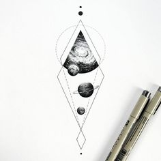kosmo #universetattoo #cosmos #planetstattoo #black #drawing #dots #illustration #artwork #art_assistance…
