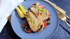 Roasted Fennel with Rice Roasted Fennel, I Want To Eat, Cabbage, Rice, Vegetables, Recipes, Food, Veggies, Rezepte