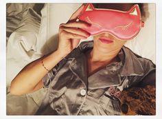 """Good night #arakspjparty @araksofficial silk pyjamas #charlotteolympia #catnaps"""