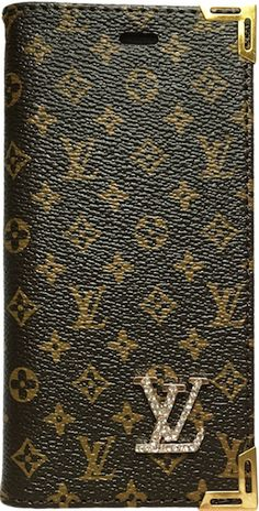 6ae1810deefe Louis Vuitton Small Brown Classic Print Leather Pocketbook w/ Strap iPhone  6/6s+ Plus Case
