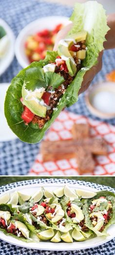 Raw Vegan Taco's With Walnut Mince, Salsa & Raw Vegan Sour Cream. Making these this weekend!