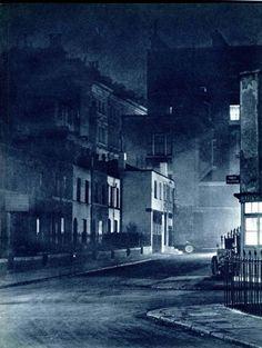 Londra notturna, città scomparsa degli anni '30