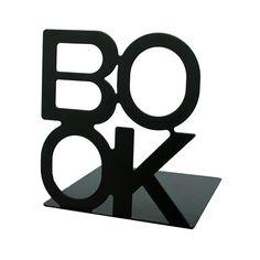 Bokstöd BOOK svart, 2-pack