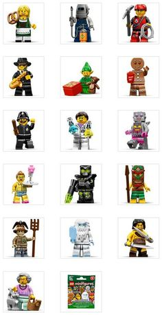New Series 11 LEGO collectible minifigures 2013 Lego People, Mini Stuff, Cool Lego Creations, Lego Friends, Bricks, Legos, Games For Kids, Funny Things, Geek Stuff